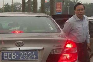 Vụ ôtô biển 80B của lãnh đạo tỉnh: 'Làm đăng ký mới'