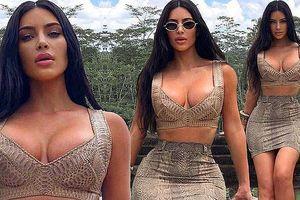 Kim Kardashian lại khiến fan phát 'sốt' với body nóng 'bỏng mắt'