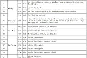 Lịch cắt điện tại Hà Nội ngày 22/4/2019: Nhiều quận trung tâm bị cắt điện