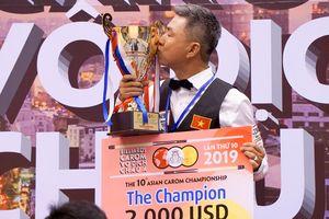 Mã Minh Cẩm xuất sắc vô địch billiards carom 1 băng châu Á