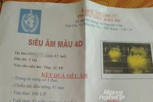 Lào Cai: Thầy giáo làm học sinh lớp 8 mang thai