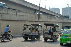Nhan nhản xe ba bánh nghênh ngang đường phố Hà Nội