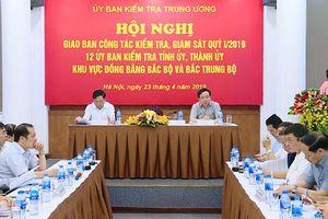 Giao ban công tác kiểm tra, giám sát 12 tỉnh, thành ủy