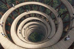 Tháp quan sát hình xoắn ốc ấn tượng ở Đan Mạch
