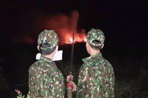 Cháy rừng phòng hộ ở Hòn Đất