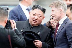 Hình ảnh ông Kim Jong Un được chào đón ở Vladivostok