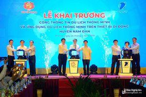 Nghệ An khai trương Cổng thông tin du lịch thông minh huyện Nam Đàn