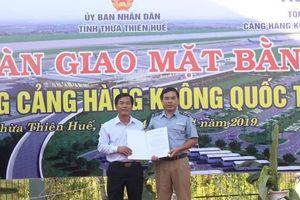 Chính thức bàn giao mặt bằng để mở rộng sân bay quốc tế Phú Bài