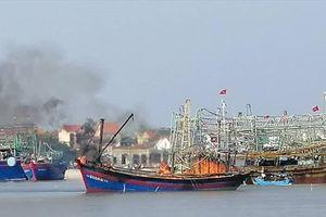 Nghệ An: Cháy tàu cá 520CV, thiệt hại gần 2 tỷ đồng