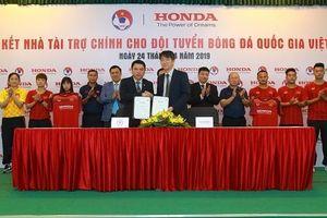 Honda Việt Nam là nhà tài trợ chính cho các đội tuyển bóng đá Quốc gia Việt Nam