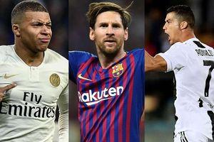 Cuộc đua 'Chiếc giày Vàng' châu Âu: Ronaldo 'hít khói' Messi
