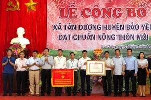 Tân Dương đón bằng công nhận xã đạt chuẩn nông thôn mới