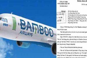 Bamboo Airways 'tố' lên Bộ GTVT vì nghi ngờ Vietnam Airlines bịa đặt sai sự thật