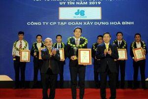 Tập đoàn Xây dựng Hòa Bình 3 năm liêp tiếp đạt Top 10 Nhà thầu Xây dựng uy tín