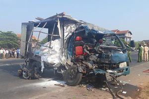 Xe container đâm xe tải làm sập nhà dân, 1 người chết