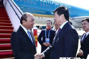 Thủ tướng tới Trung Quốc dự Diễn đàn Vành đai và Con đường