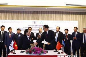 Thủ tướng dự ký kết phát triển thị trường sữa Việt Nam ở Trung Quốc