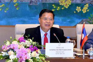 Tổng Thư ký Quốc hội, Chủ nhiệm Văn phòng Quốc hội Nguyễn Hạnh phúc làm việc với Đoàn Đại biểu Quốc hội Lào