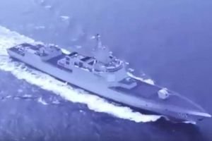 Tàu khu trục mới nhất của Trung Quốc lần đầu tiên xuất hiện trong cuộc diễu hành tại Thanh Đảo