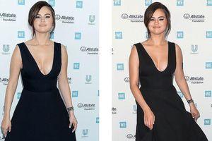 Diện đầm khoét sâu, Selena Gomez bị 'soi' vòng một bất thường