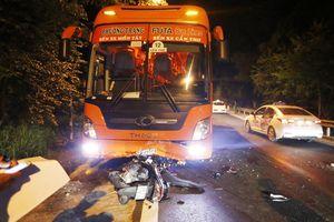 Xe máy tông trực diện xe khách lên Đà Lạt, một người tử vong