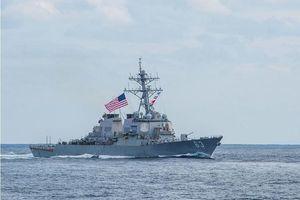 Hai tàu khu trục Mỹ đi qua eo biển Đài Loan