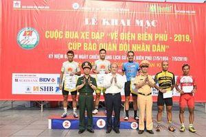 Quàng Văn Cường đoạt áo vàng chặng 1 Cuộc đua xe đạp 'Về Điện Biên Phủ-2019, Cúp Báo Quân đội nhân dân'
