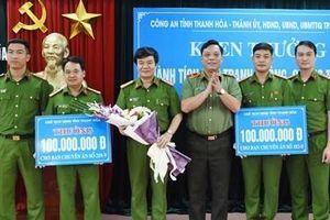 Trao thưởng cho Công an TP Thanh Hóa về thành tích đấu tranh phòng, chống tội phạm