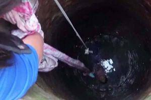 Giải cứu bé gái 4 tuổi dưới giếng nước sâu