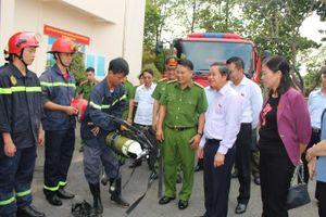 Đoàn giám sát Quốc hội kiểm tra việc thực hiện chính sách pháp luật về phòng cháy chữa cháy