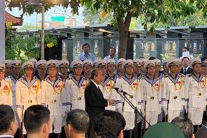 Phó Thủ tướng Trương Hòa Bình -Trưởng ban lễ tang phát biểu cảm ơn