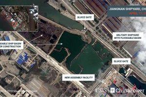 Lộ ảnh vệ tinh tàu sân bay thứ 3 'khủng' nhất của Trung Quốc