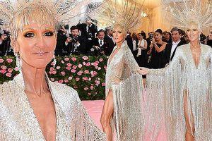 Celine Dion mặc đầm tua rua xẻ bạo, lộng lẫy như bà hoàng ở Met Gala