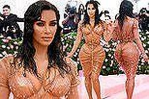 Kim Kardashian gây sốc với thân hình 'đồng hồ cát' kỳ dị