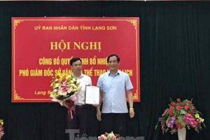 Trao quyết định bổ nhiệm Phó giám đốc Sở VH-TT&DL Lạng Sơn