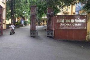 Sở Giáo dục Phú Thọ báo cáo vụ việc 'nam sinh làm 4 bạn mang thai'