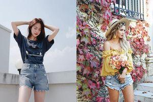 ''Giải nhiệt'' mùa hè với 4 cách mix quần short jean cứ mặc là bao đẹp!