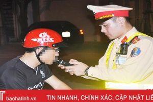 CSGT thành phố Hà Tĩnh xử phạt 614 trường hợp vi phạm nồng độ cồn