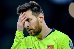 Messi suy sụp sau trận thua thảm trước Liverpool