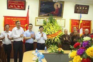 Giám đốc Công an Hà Nội chúc mừng Giáo hội Phật giáo Việt Nam TP. Hà Nội