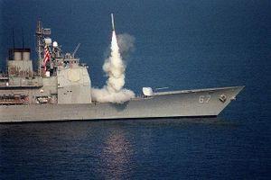 Tuần dương hạm mang tên lửa Tomahawk áp sát Iran, Trung Đông căng như dây đàn