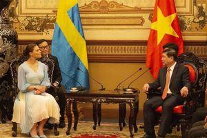Chủ tịch UBND TP HCM tiếp đón Công chúa kế vị Thụy Điển