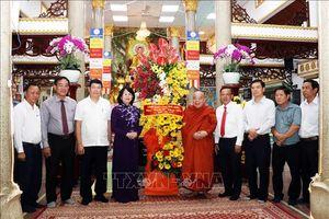 Phó Chủ tịch nước chúc mừng các cơ sở phật giáo nhân Lễ Phật đản