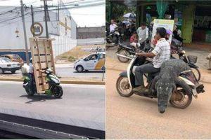 Phát hoảng với những pha 'làm xiếc' trên đường của người Việt
