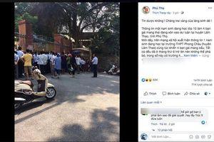 Vụ 'nam sinh lớp 10 ở Phú Thọ làm 4 bạn nữ mang bầu': Công an Phú Thọ lên tiếng