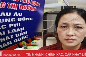 Công an TP Hà Tĩnh bắt đối tượng lừa tiền xuất khẩu lao động