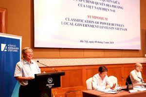 Hội thảo khoa học: Phân định thẩm quyền giữa các cấp chính quyền địa phương ở Việt Nam hiện nay (Phiên thứ 2)