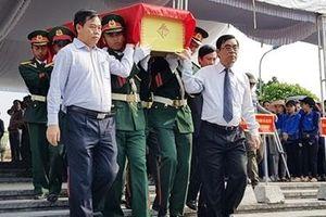 An táng 26 hài cốt Liệt sĩ tại Nghĩa trang Liệt sĩ Quốc gia Đường 9