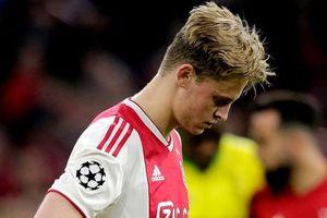 Tân binh Barcelona rơi nước mắt sau trận thua đau của Ajax
