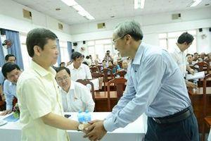 Viện trưởng Lê Minh Trí tiếp xúc cử tri tại TP Hồ Chí Minh trước kỳ họp thứ 7
